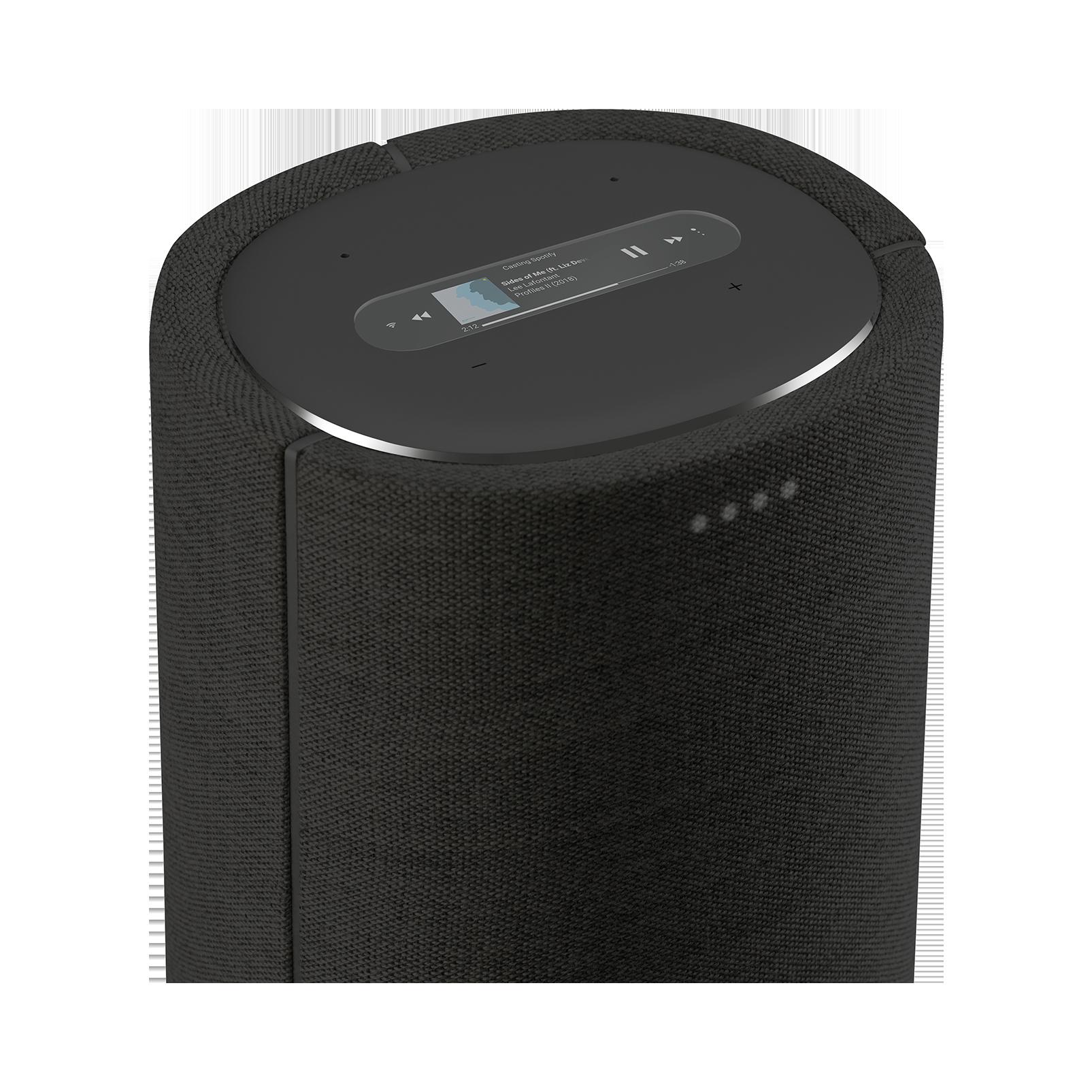 Harman Kardon Citation Tower - Black - Smart Premium Floorstanding Speaker that delivers an impactful performance - Detailshot 1