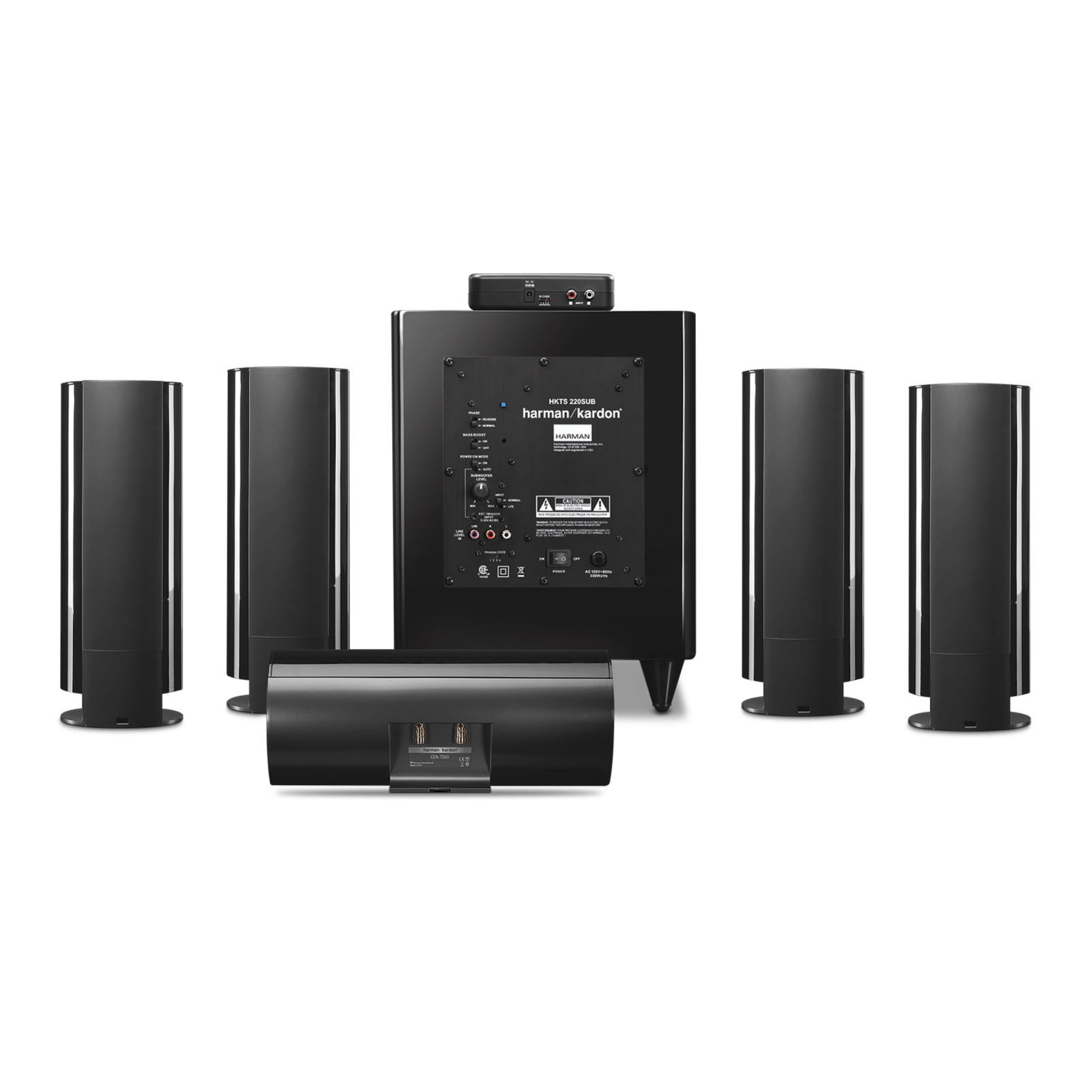 Hkts 65 A 5 1 Channel Home Theater Speaker System With
